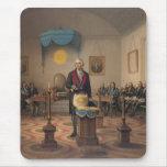 Presidente George Washington como albañil principa Tapetes De Ratón