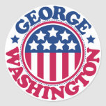 Presidente George Washington de los E.E.U.U. Pegatina Redonda