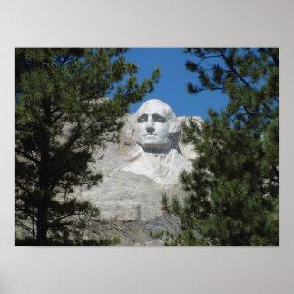 Presidente George Washington, el monte Rushmore Poster