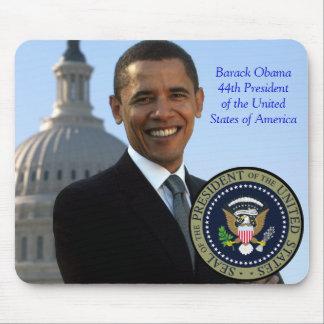 Presidente Gold Seal de Barack Obama 44.o Alfombrillas De Ratón