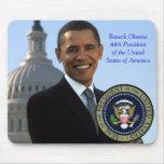 Presidente Gold Seal de Barack Obama 44.o Tapete De Ratones