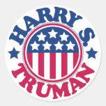 Presidente Harry S Truman de los E.E.U.U. Pegatina Redonda