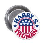 Presidente Harry S Truman de los E.E.U.U. Pin Redondo De 2 Pulgadas