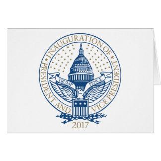 Presidente Inaugural Logo Inauguration de los Tarjeta De Felicitación