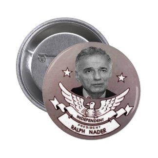 Presidente independiente Button de Nader Pin Redondo 5 Cm
