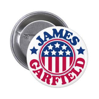 Presidente James Garfield de los E.E.U.U. Pin Redondo 5 Cm