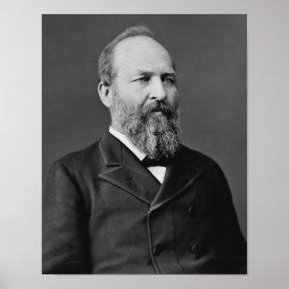 Presidente James Garfield Póster