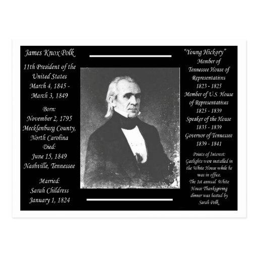 Presidente James K Polk Tarjetas Postales
