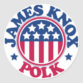 Presidente James Knox Polk de los E.E.U.U. Pegatina Redonda