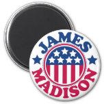 Presidente James Madison de los E.E.U.U. Imanes Para Frigoríficos