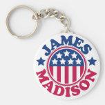 Presidente James Madison de los E.E.U.U. Llaveros