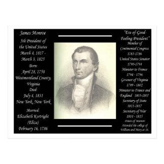 Presidente James Monroe Tarjeta Postal