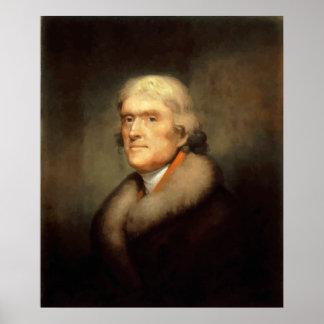 Presidente Jefferson Painting Poster