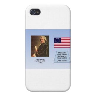 PRESIDENTE JOHN ADAMS iPhone 4 CARCASA