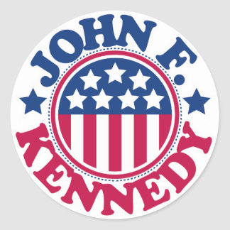 Presidente John F. Kennedy de los E.E.U.U. Etiquetas Redondas
