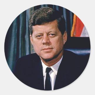 Presidente John F. Kennedy Etiqueta Redonda