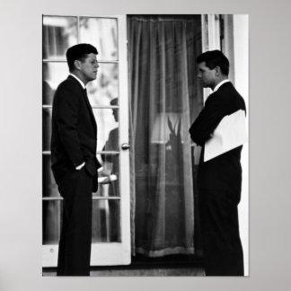 Presidente John Kennedy y Roberto Kennedy Póster