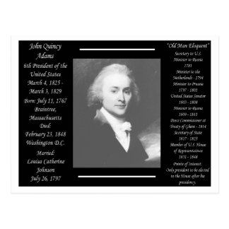 Presidente John Quincy Adams Postales