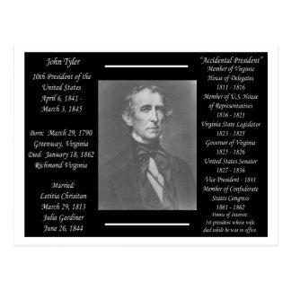 Presidente John Tyler Tarjeta Postal