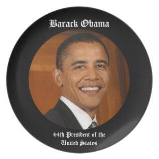 Presidente Keepsake Gift Plate de Barack Obama 44. Platos Para Fiestas