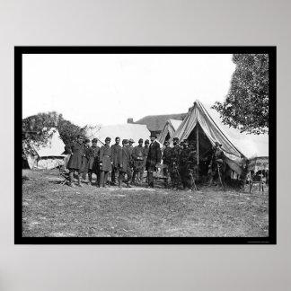Presidente Lincoln en Antietam 1862 Impresiones