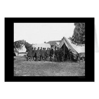 Presidente Lincoln en Antietam 1862 Tarjeta De Felicitación