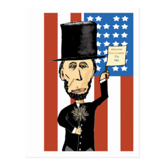 Presidente Lincoln Happy Bday 2 yo postal