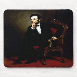 Presidente Lincoln Painting Tapetes De Ratón