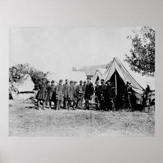 Presidente Lincoln Visiting el campo de batalla Póster