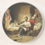 Presidente Lincoln Writing Proclamation de la libe Posavasos Personalizados