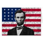 Presidente Lincoln y la bandera americana Felicitación