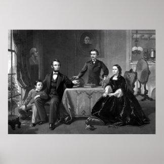 Presidente Lincoln y su familia Impresiones