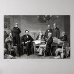 Presidente Lincoln y su gabinete Posters