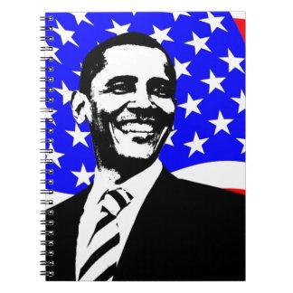 presidente los E.E.U.U. de Barack Obama Libros De Apuntes Con Espiral