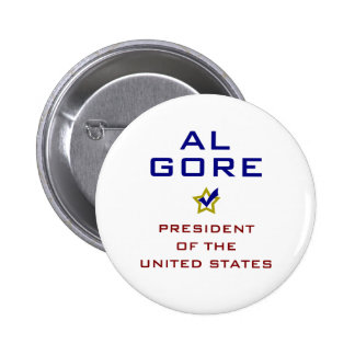 Presidente los E.E.U.U. V2 de Al Gore Pin