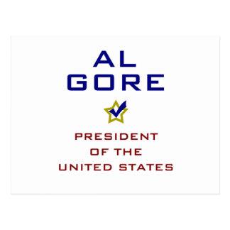 Presidente los E.E.U.U. V2 de Al Gore Tarjetas Postales