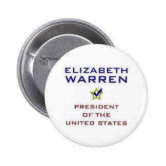 Presidente los E.E.U.U. V2 de Elizabeth Warren Pins