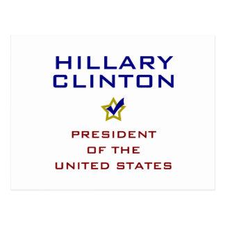 Presidente los E.E.U.U. V2 de Hillary Clinton Tarjetas Postales