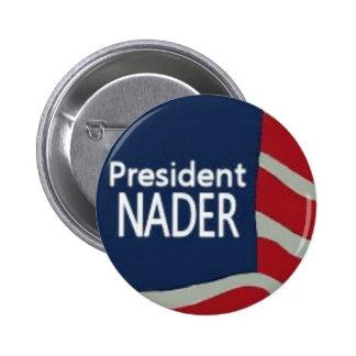 Presidente Nader Flag Pin Pin Redondo 5 Cm