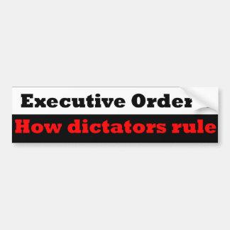 Presidente o dictador etiqueta de parachoque