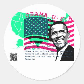 Presidente Obama 3 Pegatina Redonda