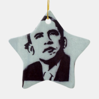 Presidente Obama Adorno Navideño De Cerámica En Forma De Estrella