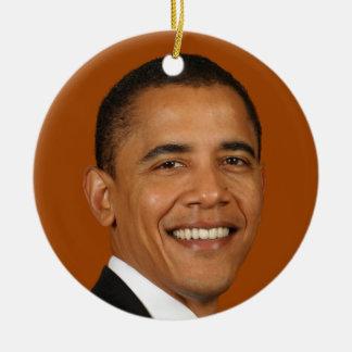 Presidente Obama Adorno Navideño Redondo De Cerámica