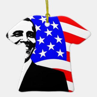 Presidente Obama Attire Adorno De Cerámica En Forma De Playera