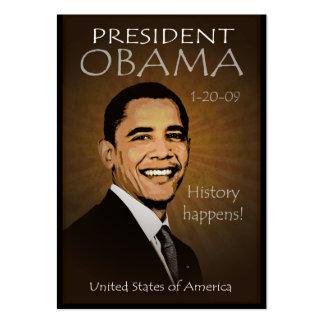 Presidente Obama - calendario del bolsillo del Tarjetas De Visita Grandes