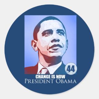 Presidente Obama, cambio ahora es pegatina