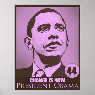 Presidente Obama, cambio ahora es poster rosado