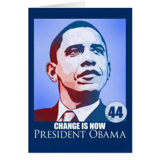 Presidente Obama, cambio ahora es tarjeta
