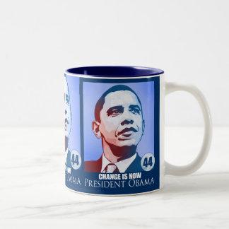 Presidente Obama, cambio ahora es taza