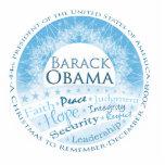 Presidente Obama Christmas Ornament Adorno Fotoescultura